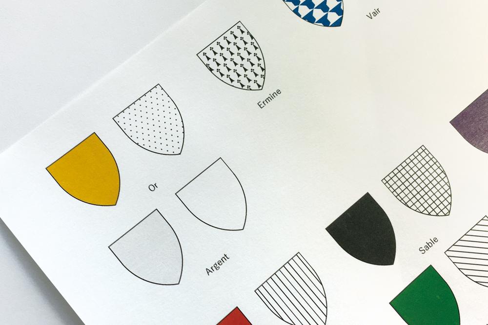 紋章学(色彩/ティンクチャー)・盾の色が表す属性の違い