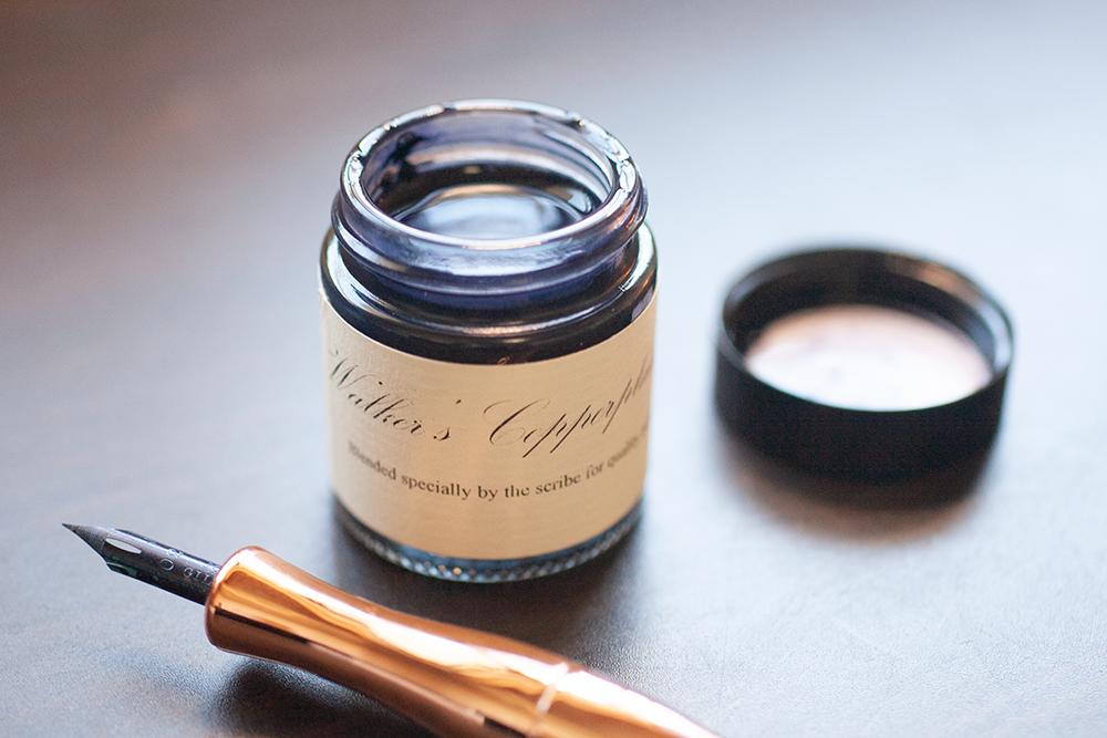 カッパープレートの練習に超オススメのインク「Walker's copperplate ink」