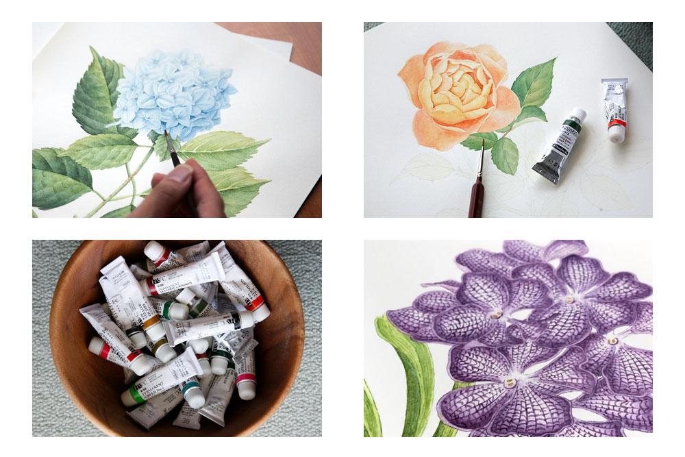 植物画の制作
